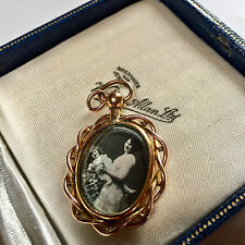 BEAUTIFUL ANTIQUE VICTORIAN/EDWARDIAN ROLLED GOLD DOUBLE SIDED PHOTO PENDANT