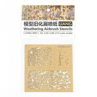 Weathering Airbrush Stencils Tool for 1/35 1/48 1/72 Scale Model Modification