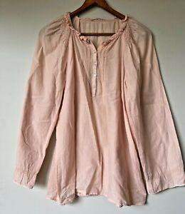 Vanessa Bruno blush cotton/linen boho smock top 38