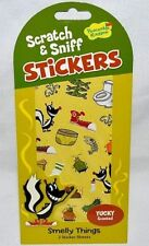 PEACEABLE KINGDOM 41 SCRATCH N' SNIFF-YUCKY STINKY SMELLY SCENTED STICKERS-SKUNK