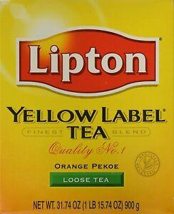 Lipton Yellow Label Tea Orange Pekoe 900gm  ( 31.74 oz )