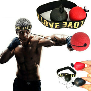 Boxing Fight Ball Punch Exercise Head Band Reflex Speed Training Equipment Kit
