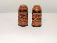 Wooden Totem Salt and Pepper Shakers Ketchikan Alaska (12654)