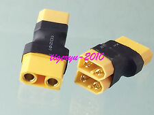 1pce XT90 XT-90 female to 2 x XT60 male parallel No wire adapter for Battery