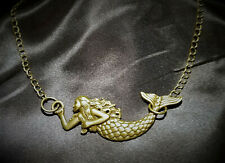 Mermaid Choker Necklace Antique Goldtone Bronze, Steampunk, Celtic, Gothic Boho