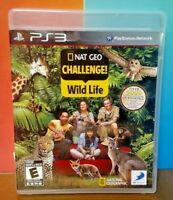 Nat Geo Challenge Wild Life  - Sony PlayStation 3 PS3 Game COMPLETE w/ Manual