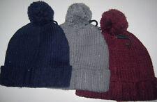 Chapeaux rouges en acrylique taille unique pour femme