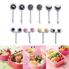10pcs Cute Eye Mini Food Fruit Picks Kid Forks Bento Lunch Box Tool Tableware