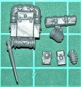 Death Korps of Krieg Veteran Guardsmen - Backpack & Accessories (Multilisting)