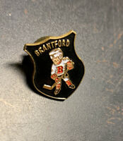 Brantford Ontario Hockey Player Metal Enamel Pin - Home of Wayne Gretzky VG Cond