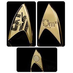 Star Trek 50th Anniversary Command Magnetic Badge Official Merchandise