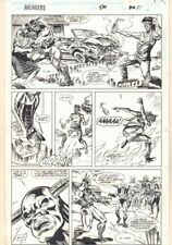 Avengers #370 p.27 - Toro Rojo Action - 1994 Signed art by Geof Isherwood