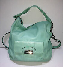 COACH Kristin Turquoise Teal Leather Hobo Bag VGUC