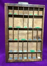 "Wood Wall Miniature Display Shelf Drawer Curio shadow Box 17""  Hamilton Vintage"