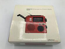 RED Grundig FR-200 AM/FM/SW Emergency Crank Radio World Band Receiver W/Light