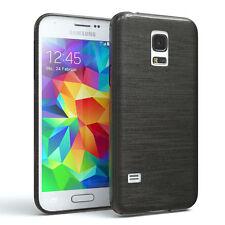 Funda protectora para Samsung Galaxy Mini s5 brushed cover móvil, funda antracita