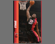 Classic SHAQUILLE O'NEAL 2005-06 Miami Heat Alternate Uniform NBA Action POSTER