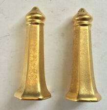 1920'S  PICKARD PORCELAIN GOLD ENCRUSTED  LARGE SALT & PEPPER SHAKERS Lot 2