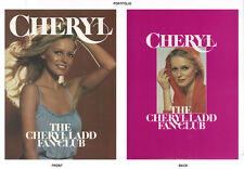 POSTER/PORTFOLIO : FAN CLUB OF AMERICA - CHERYL LADD  - 13 PCS IN FOLDER   LC7 B