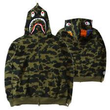 2cf81655 2018 Bathing ape Bape Shark Jaw Camo Full Zipper Hoodie Men's Sweats Coat  Jacket