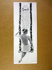 1960 Spun-Lo Panties topless woman on flower swing photo vintage print Ad