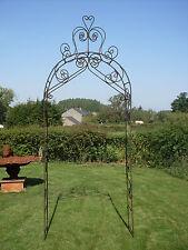 Arche de jardin en fer forgé plein(un mètre de large )