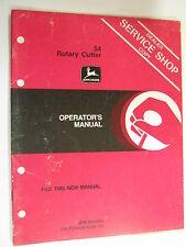 JOHN DEERE 54 ROTARY CUTTER TY20523 D1 OPERATOR'S MANUAL