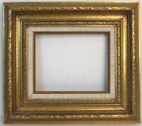 ANTIQUE GREAT HAND CARVED GILT FRAME FOR PAINTING  10  X 8 INCH