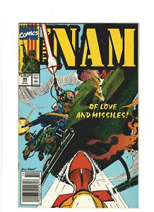 The 'Nam #49 VF/NM 9.0 Newsstand Marvel Comics Vietnam War 1990