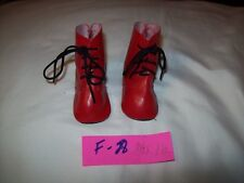 Nice Vintage Pair of Red Doll Boots F 28