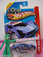 Case A/C 2013 Hot Wheels SUPER BLITZEN #107 US☆Racing BLUE☆HW Racing Track