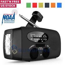 Waterproof Solar Hand Crank Power Survival Am/Fm/Noaa Radio 2000mAh Power Bank