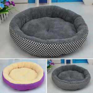 Round Pet Bed Mattress Dog Cat Pad Mat Cushion Soft Winter Warm Large Washable
