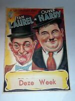 """Rare Map Poster Of Stan Laurel & Oliver Hardy German Show13.5""""×18.5"""" In Colored"""