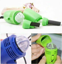 USB Dust Collector Laptop Computer Keyboard LED Light Mini Vaccum Cleaner Brush