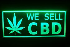 We Sell Cbd Sold Here Led Signs Oil Shop Open Windows Neon Light Welcome Sign