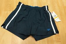Speedo Men's Solid Rally Volley 12 inch Workout Swim Trunks New Navy Blue Small