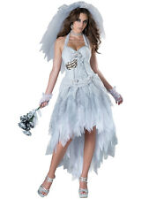 NEW! ELITE CORPSE BRIDE L Deluxe Women's Zombie Wedding Costume InCharacter