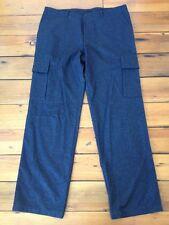 Hugo Boss 100% Wool Charcoal Gray Cargo Flat Front Mens Pants 40x34