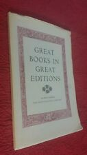 GREAT BOOKS IN GREAT EDITIONS SAN MARINO CA HUNTINGTON LIBRARY BIBLES 1965