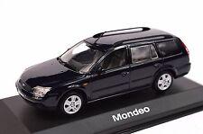 FORD MONDEO 3 ESTATE 2000 DARK BLUE DEALER MODEL MINICHAMPS 433 080013 1:43 NEW