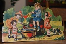 vintage antique Valentine card, large mechanical Germany rare, 1930 unusual nice
