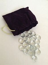 Clear White Jewels Gem & Velvet Pouch~Dread Pirate Game Treasure Chest Props
