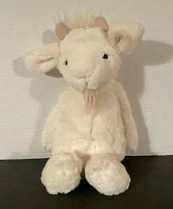 Jellycat Medium Bashful Cream Goat Plush Stuffed Animal Lovey Toy 12 inch