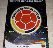 FIGURINA CALCIATORI PANINI BRASIL 2014 SCUDETTO COLOMBIA N°184 ALBUM MONDIALI