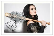 PAIGE SIGNED PHOTO PRINT AUTOGRAPH WWE DIVA WRESTLING