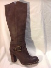 Next Brown Knee High Leather Boots Size 41
