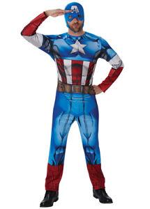 Adult Mens Classic Captain America Costume