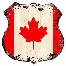 BP-0007 CANADA Flag  Shield Chic Sign Bar Store Shop Home Decor Gift
