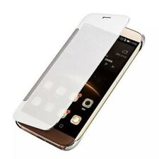 Fashion Smart Mirror View Flip Leather PC Cover Case For Huawei P8 P9 P10 Lite C